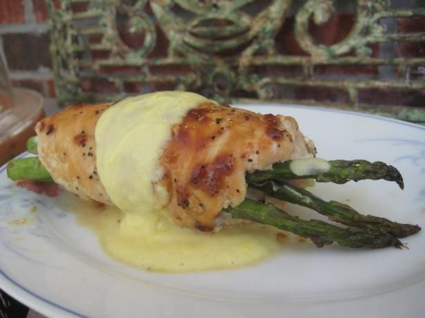 Nif's Asparagus Stuffed Chicken Breast With Hollandaise Sauce. Photo by gailanng