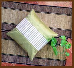 Banana fibre cushion cover with raw silk