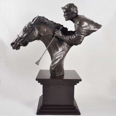 By A Neck Cold Cast Bronze Sculpture - £189.99