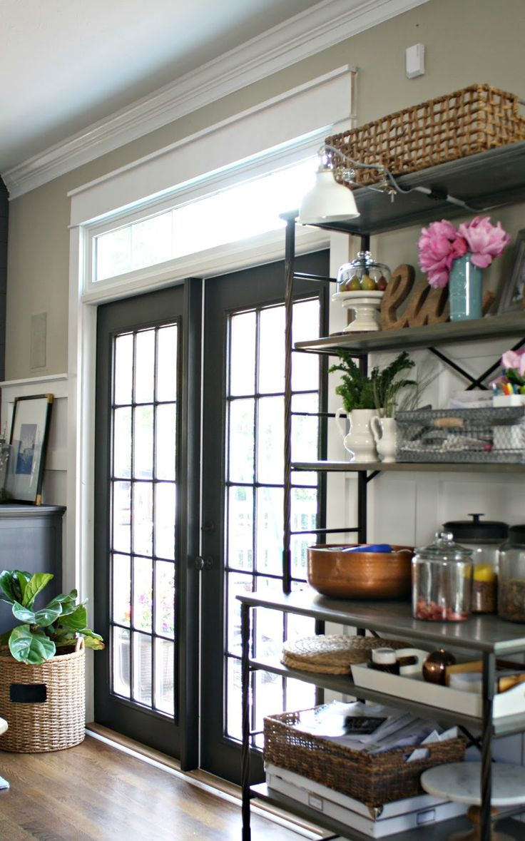 Black doors with white trim - How To Paint French Doors With Windows In Them Black French Doors With