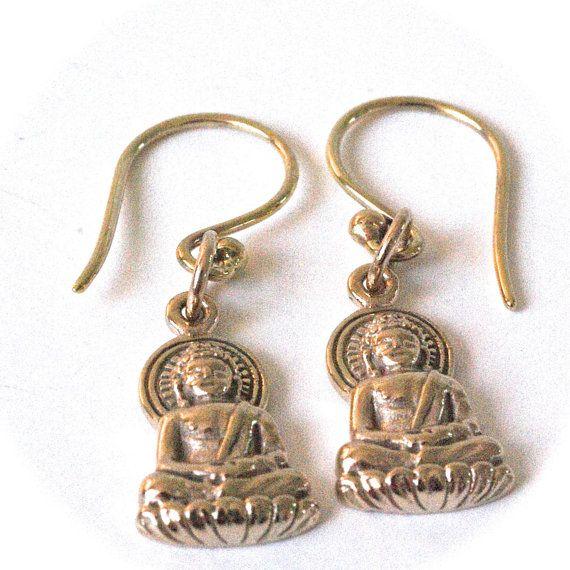 Buddha Earrings  Hindu Earrings Yoga Jewelry by BayMoonDesign