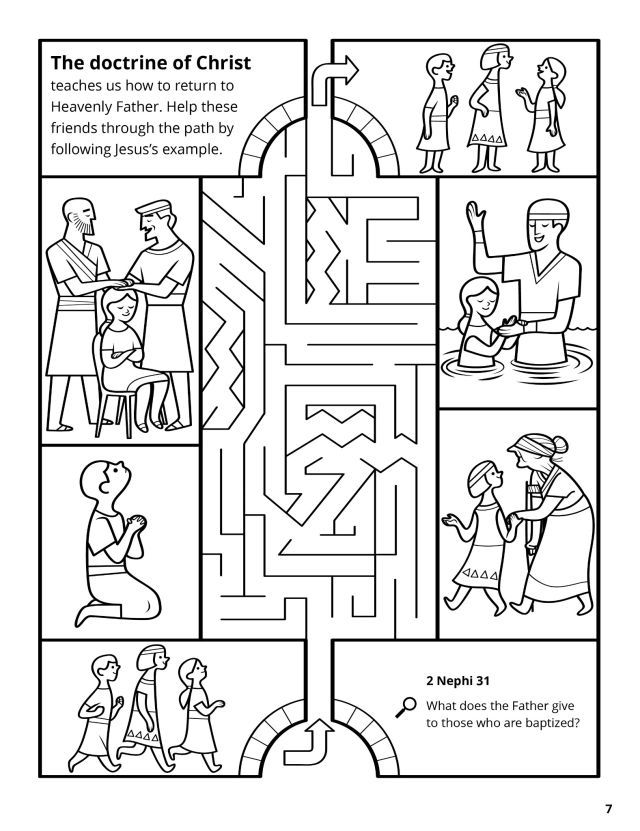 Book Of Mormon Journal 2 Nephi 31 33 The Way Hey Friend Coloring Pages Lds Baptism Preschool Bible