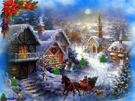 11 best paesaggi di natale images on pinterest winter - Scene di natale a colori ...