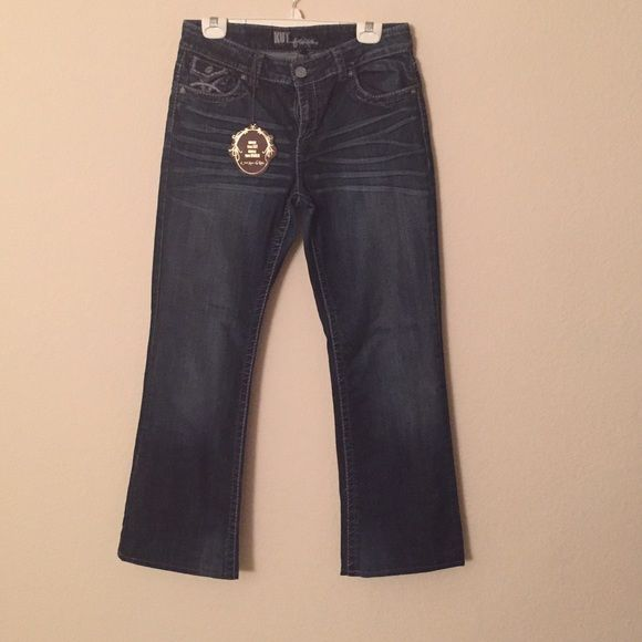 """Kut Jeans sz 10 28 1/2"""" inseam Brand new Kut jeans still with tag. Have been sitting in my closet and now time to sell! A very nice pair of denim blue jeans. They are size 10 with an inseam of 28 1/2"""" Kut Jeans Boot Cut"""