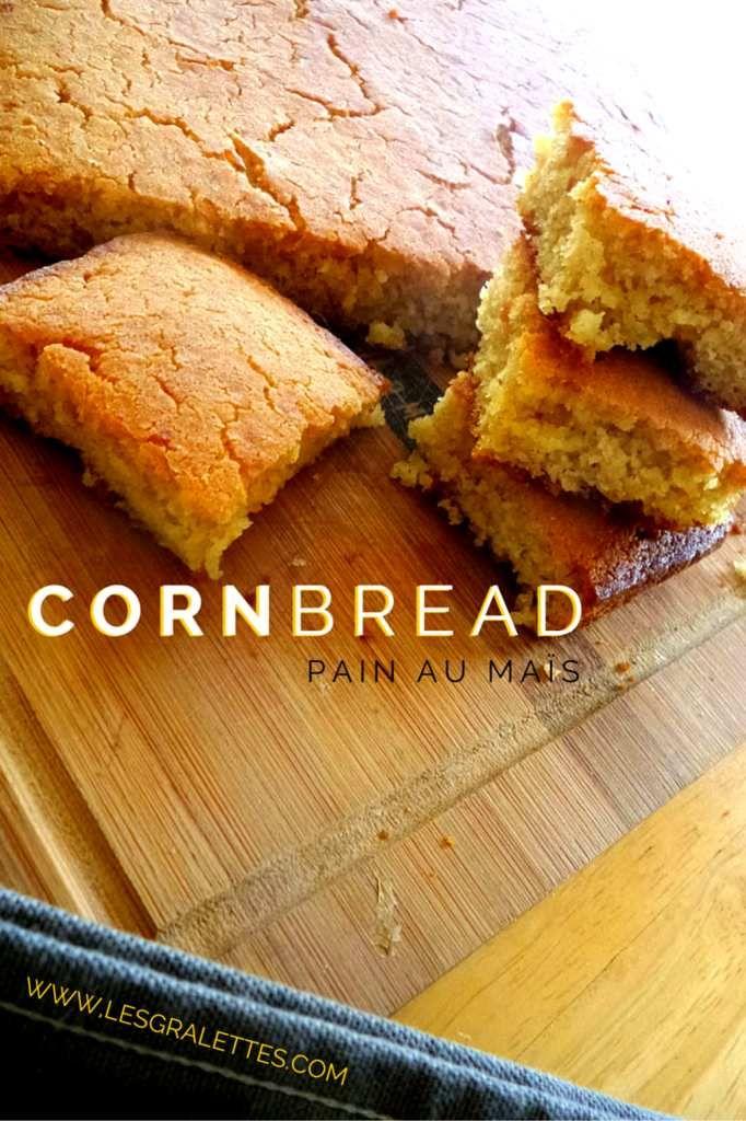 Cornbread, le pain de maïs américain  On se lance un peu dans des expérimentations de gastronomie américaine, et plus particulièrement du Sud des Etats-Unis en préparation d'une occasion un peu spéciale dont ou vous reparlera très prochainement. Aujourd'hui...