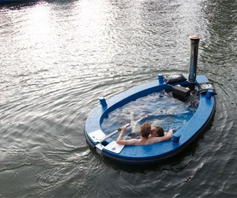 The Hot Tug ~Hot tub tug boat!!!  Cool!