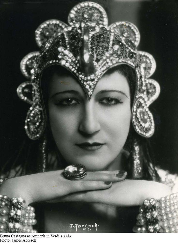 Opera singer Bruna Castagna as Amneris in Verdi's Aida, late 1930s or early 1940s.