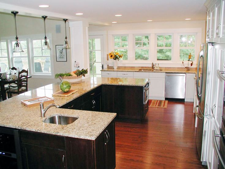 75 best antique white kitchens images on pinterest - Functional kitchen island designs ...