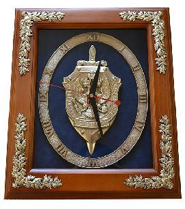 """Часы """"Эмблема ФСБ"""" - Часы <- Картины, плакетки, рельефы - Каталог   Универсальный интернет-магазин подарков и сувениров"""