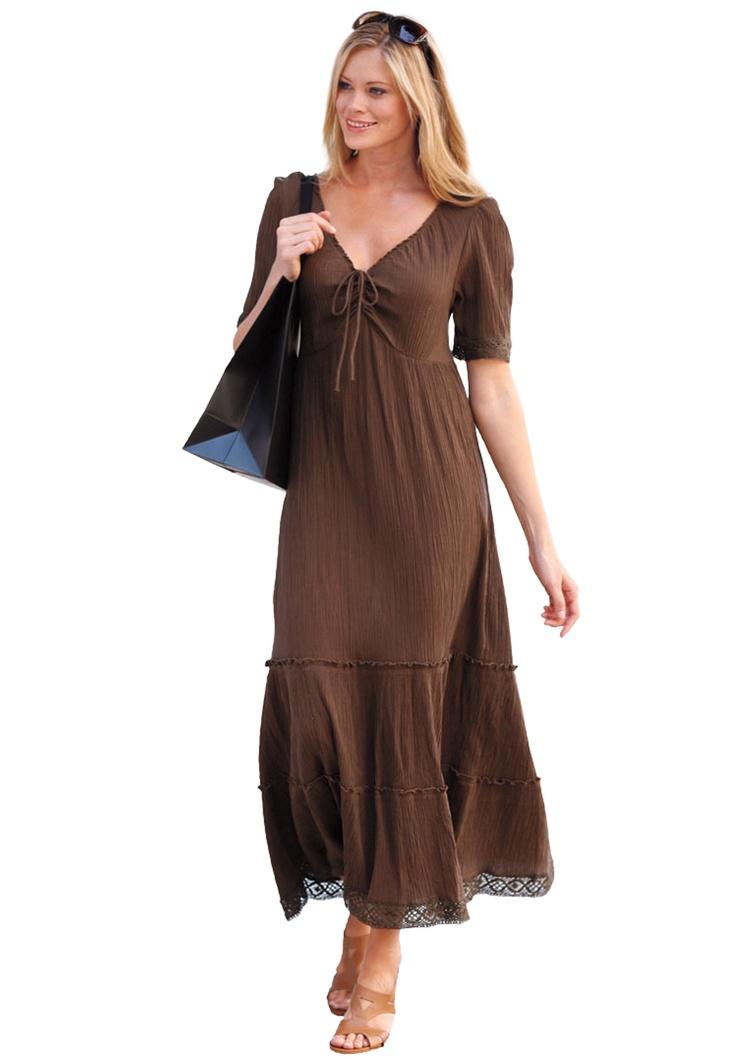 Cool Gauze Dress By Ellos 174 Plus Size Casual Dresses