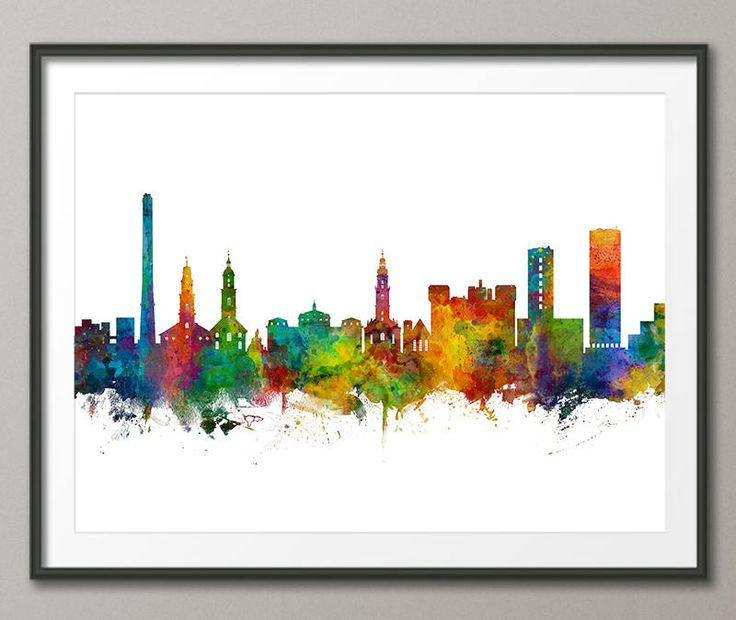 Erlangen Skyline, Erlangen Germany Cityscape Art Print (3524) by artPause on Etsy
