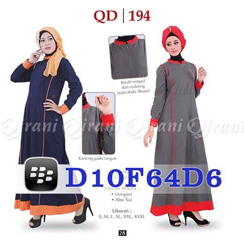 Gamis Qirani Model 194 Hubungi  085732697004 PIN BB D10F64D6