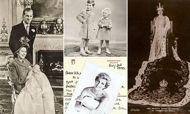 Photos of Queen Victoria and Princess Diana, the Duchess of Cambridge's wedding menu and intimate family photos of the Queen: Rare royal memorabilia to go under the hammer.