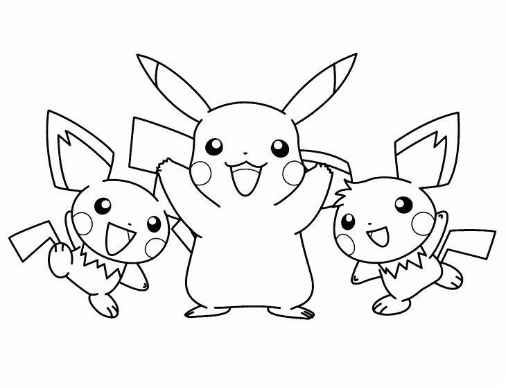 coloriage de pikachu a imprimer di 2020