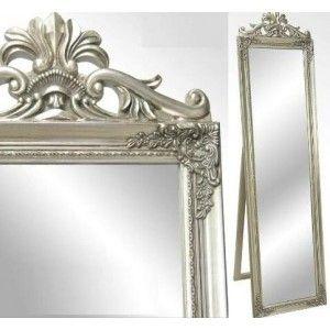 Espejo plata Carolina de cuerpo entero con precisos acabados y medidas 170x45x7cm. Encuentralo en nuestra web. http://goo.gl/hkOzC