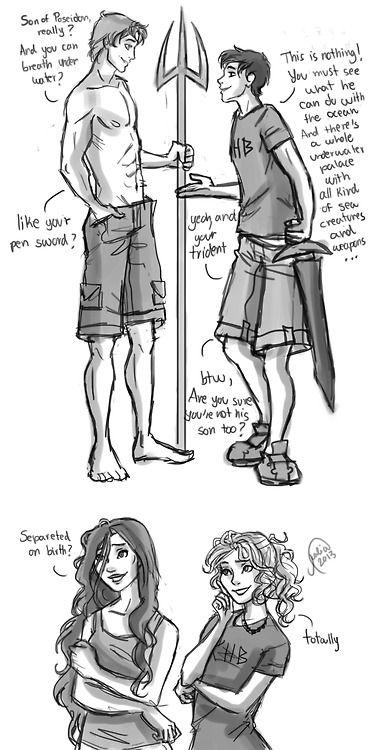 Finnick Odair meets Percy Jackson.