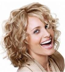 Image result for short curly hairstyles for long faces
