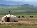 For Mongolian herders their access to natural resources is limited due to their nomadic way of life - small wind turbines and/or solar panels are frequently used. Now, however, more herders have gained access to solar power through a program launched by the Mongolian government with support from the World Bank (National 100,000 Solar Ger Electrification Program):  http://www.worldbank.org/en/news/2012/09/20/solar-power-lights-up-future-for-mongolian-herders