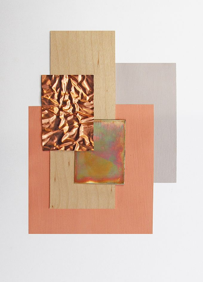 Material and Colour Explorations / Amy Bartlett - Material - Composition - Moodboard
