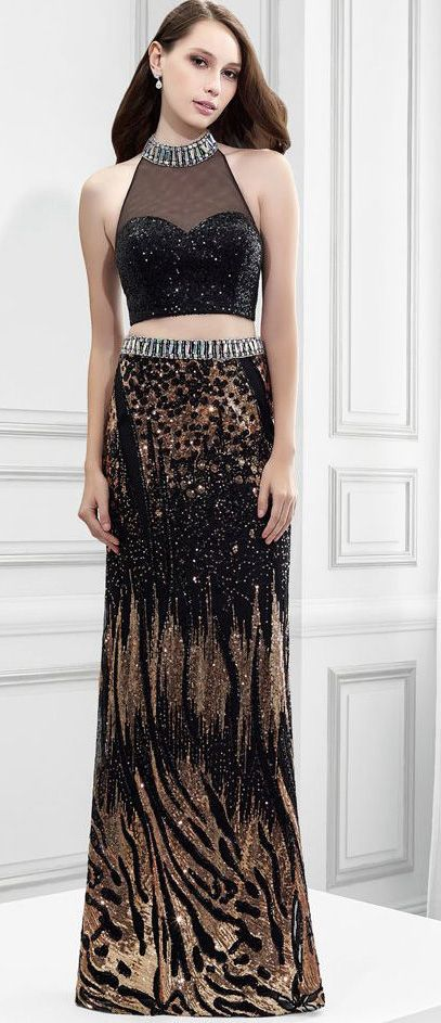 $135.09-Sexy High Neck Beaded Sleeveless Jersey Two Piece Evening Gown. http://www.ucenterdress.com/high-neck-sleeveless-beaded-sequin-prom-dress-with-bow-pMK_300289.html. Shop for affordable evening gowns, prom dresses, white dresses, party dresses for women, little black dresses, long dresses, casual dresses, designer dresses, occasion dresses, formal gowns, cocktail dresses . We have great 2016 Evening Gowns on sale now. #evening #gowns