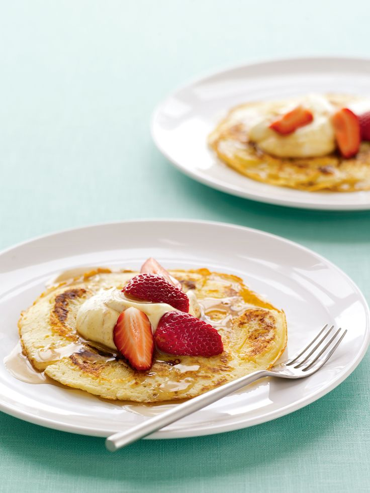 Banana Pancakes with Cinnamon Cream. The delicious combination of banana with cinnamon cream is just divine. Add some mixed berries for an extra flavour punch.  http://www2.woolworthsonline.com.au/Shop/Recipe/1832?name=banana-pancakes-with-cinnamon-cream  #Woolworths #recipe #breakfast