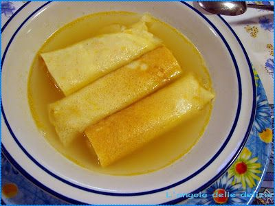 Crespelle in brodo all'abruzzese