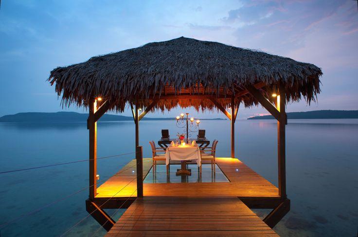 Romantic dinners on the jetty at The Havannah, Vanuatu