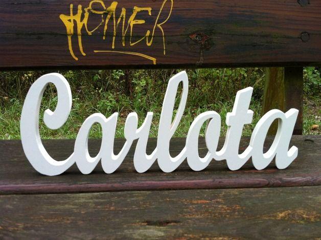 Letras de madera - Letras de madera unidas 1.5 personalizado. - hecho a mano por planetasierra en DaWanda