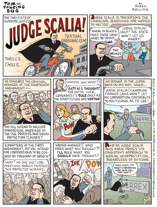 Cartoon: Judge Scalia channels the framers