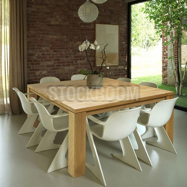 Gemini Solid Recycled Elm Wood Dining Table Hkd 8999  Stockroom Endearing Slim Dining Room Tables Inspiration Design