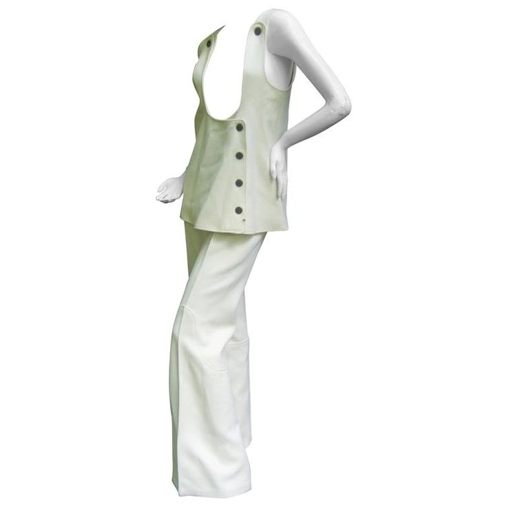 Incredible Space Age Courreges Couture Trouser Suit. 1960's. | 1stdibs.com