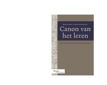 Ruijters, Manon. Canon van het leren. Plaats: 371.3 RUIJ