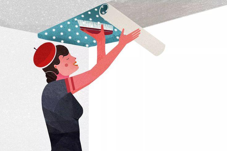Come tappezzare il soffitto