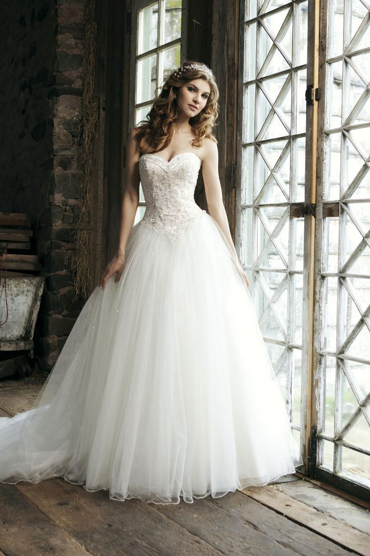 gown tulle bridal princess beaded wedding dress