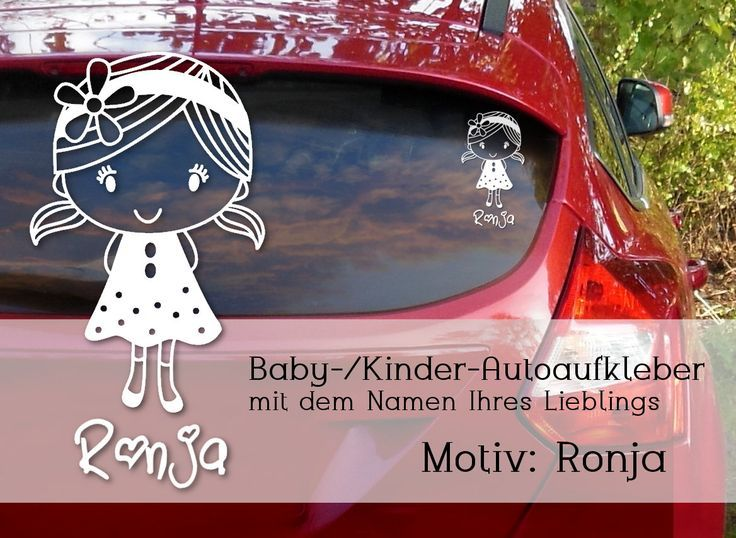 """Car sticker, car sticker for baby girl """"Ronja"""" –  Mit Baby unterwegs – Color Pho…"""