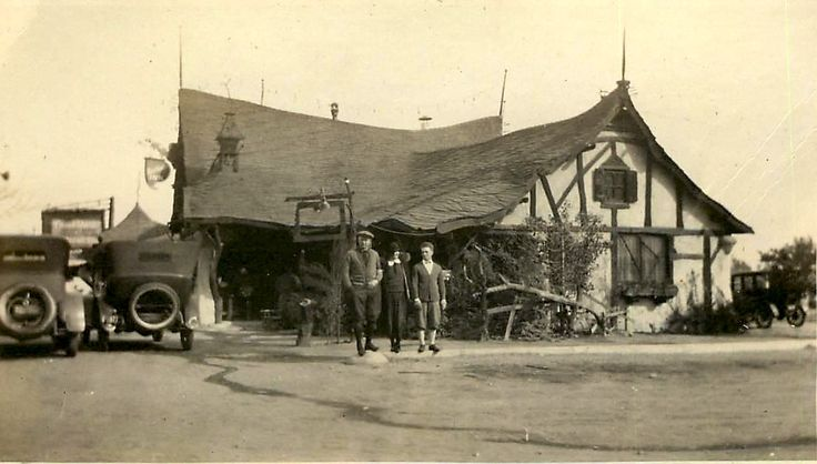 """This whimsical example of """"Storybook Style"""" architecture is a restaurant called the Tam O'Shanter Inn. It opened in June 1922 by the founders of Van de Kamp's Bakeries and is still around, making it Los Angeles' oldest restaurant that has remained in the same location under the same ownership. It is located in the Los Feliz area, just a few miles away from Walt Disney's Hyperion Studio. Disney himself and his lead animators often frequented the place."""