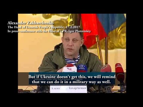 Zakharchenko in Lugansk   'We Remember Our Duty'