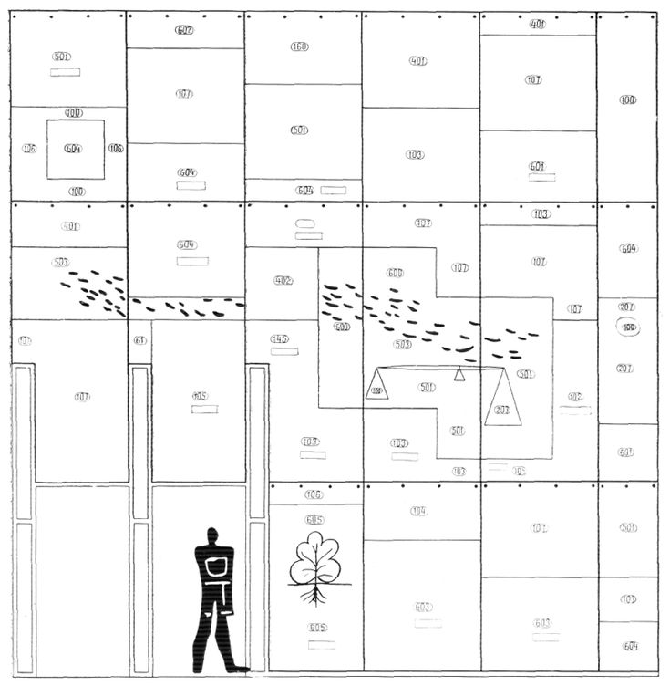Рис.65. Ле Корбюзье. Le Corbusier. Mod 2. Модулор 2