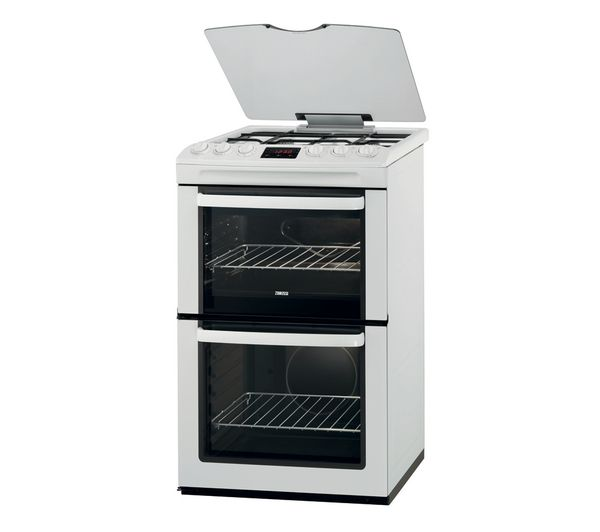 Buy ZANUSSI ZCG550GWC LPG Gas Cooker - White   Free Delivery   Currys