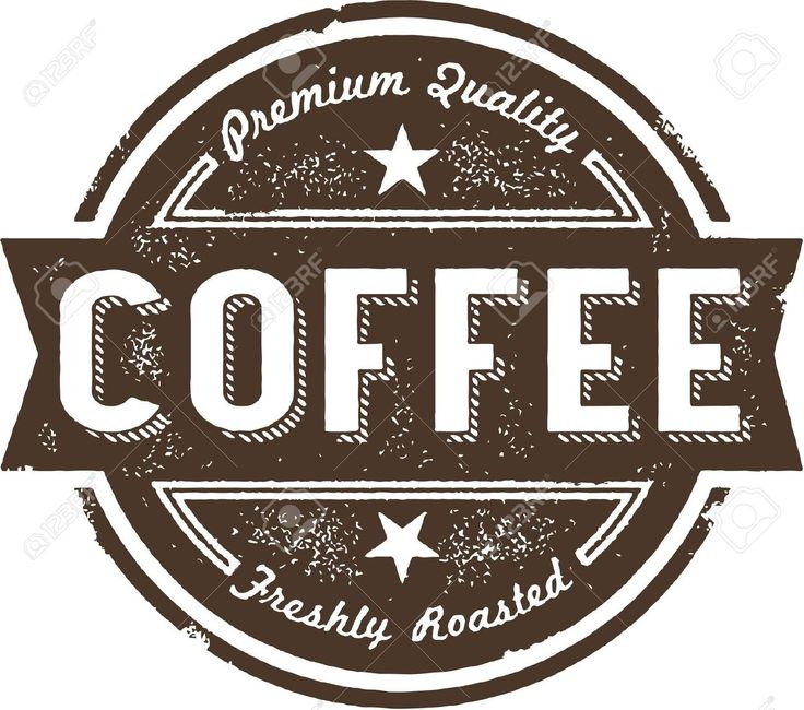 Vintage Coffee Label Stamp Royalty Free Cliparts, Vectors, And ...