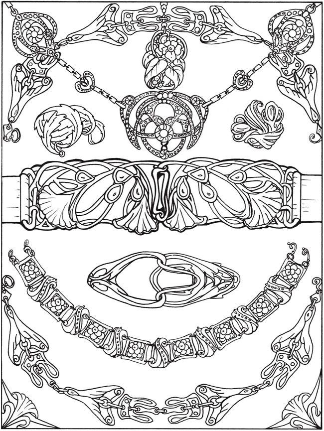 jewlery coloring pages - photo#18