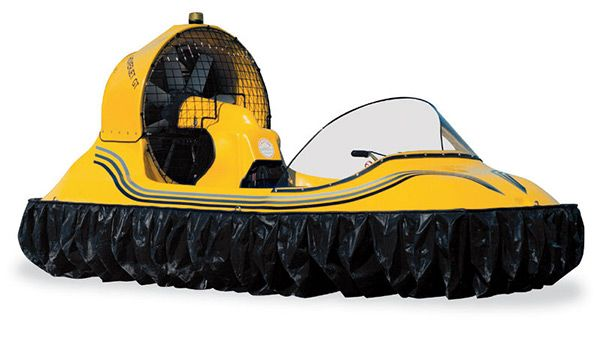 Personal Hovercraft    These days, if you have the money, you can buy just about anything. Want a Killer Whale Submarine, a Multi-Million Dollar RV, an Animatronic Dinosaur, or a Water Jet Pack? These are all available provided you've got the Benjamins. Now you can add Personal Hovercraft to your wishlist, and start saving up to buy this two person hovercraft that can go up to 60 mph over land and water supported by an 8″ cushion of air.