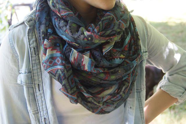 Tribal infinity scarf. Authentically Urban