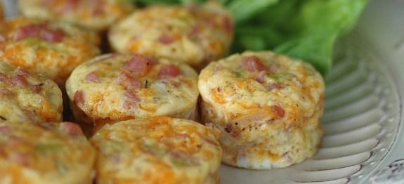Ispanaklı mini omletler
