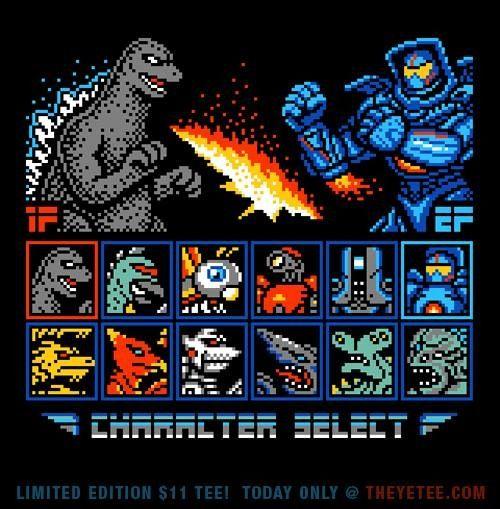 Godzilla Pacific Rim video game mash up