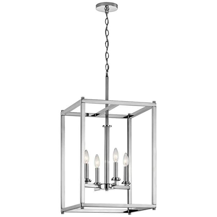"Kichler Crosby 16"" Wide Dual-Chrome 4-Light Foyer Pendant - #16W09   Lamps Plus"