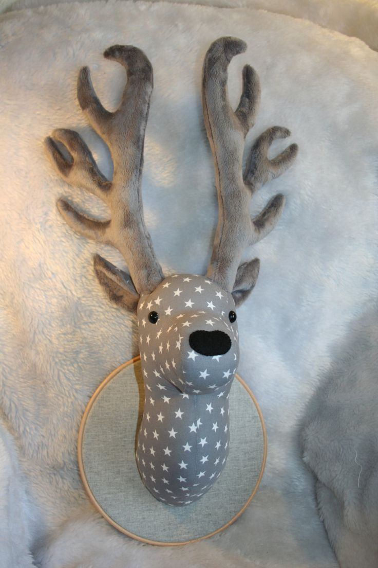 fabric deer head pattern - Поиск в Google