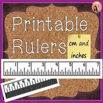 Printable Rulers (all to scale): templates in both cm ruler templates and inch ruler templates. $ #math