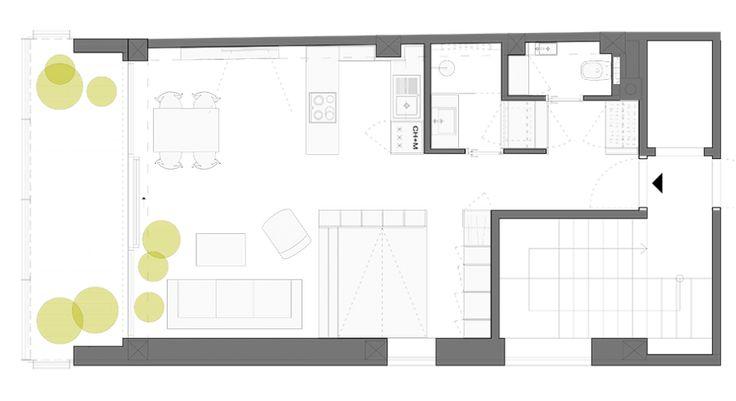 Diseño de plano de apartamento pequeño de un dormitorio   Construye Hogar
