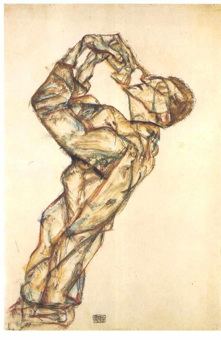 Egon Schiele - Pierrot (Self-portrait), 1914